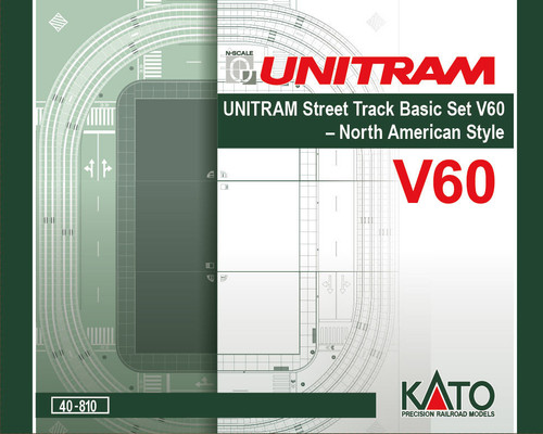 Kato N Scale V60 UNITRAM North American Style Oval Track Set - 80410