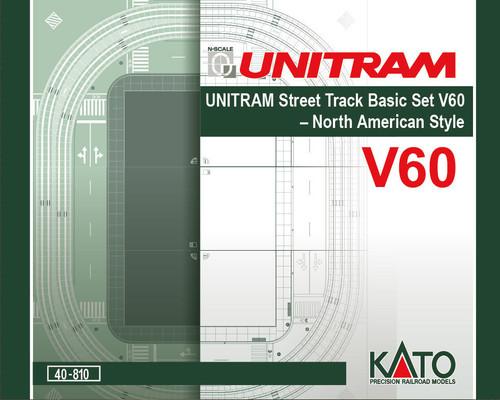 Kato N Scale V60 UNITRAM North American Style Oval Track Set - 80410