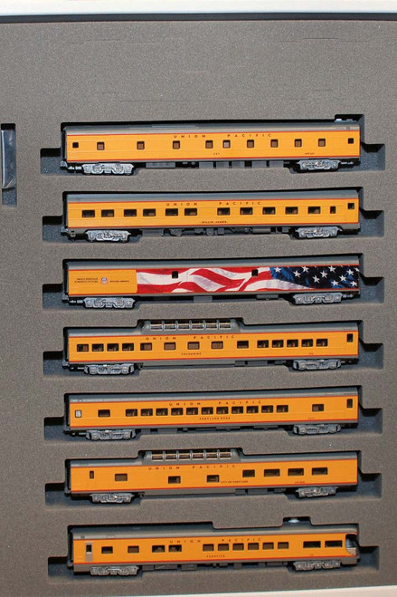 Kato N Scale Excursion Train 7-Car Set, Union Pacific Set - 106-086