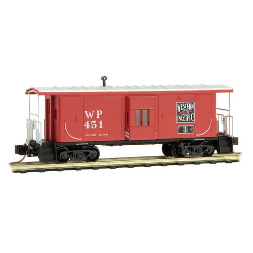 Micro Trains N Scale  Western Pacific Bay Window Caboose - 13000190