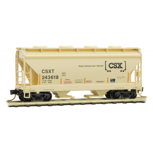 Micro Trains N Scale CSX Two Bay Hopper #243618 - 09800032