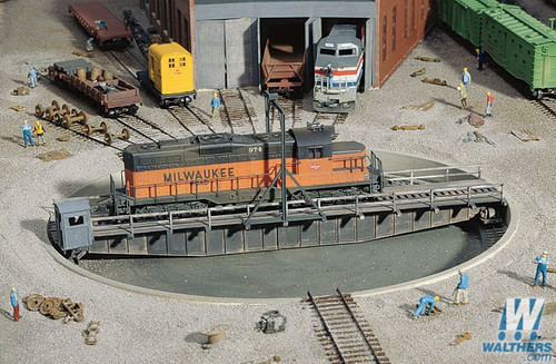 """Walthers Cornerstone HO Scale 90' Turntable -- Kit - Pit Diameter: 13-3/16"""" - 933-3171"""