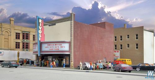 Walthers Cornerstone HO Scale Rivoli Theatre Kit - 933-3771