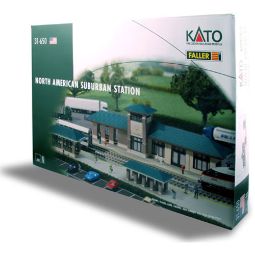Kato N Scale Schaumburg North American Suburban Commuter Station Kit - 31650