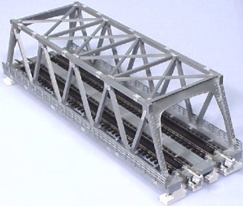 "Kato N N 248mm 9-3/4"" Double Track Truss Bridge, Silver - 20437"