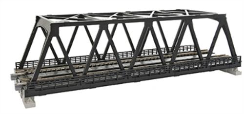 "Kato N N 248mm 9-3/4"" Double Track Truss Bridge, Black - 20438"