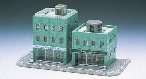 Tomix N Scale Green Square Buildings -4050