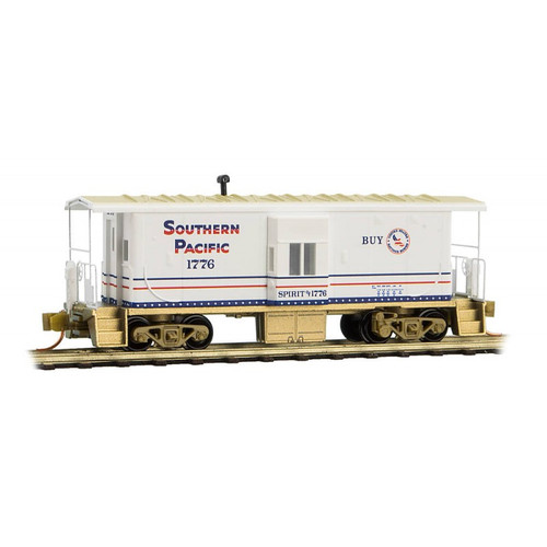 Micro Trains N Scale  Southern Pacific Bay Window Caboose # 1776 - 13000250