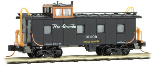 Micro Trains N Scale DRGW Steel Caboose # 1400 - 10000400