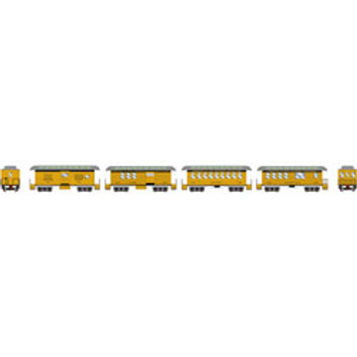 Athearn N Scale 34' Old Time Overton Pass Set, DRGW (4)