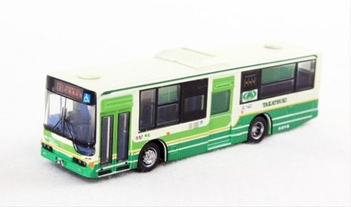 Tomytec N Scale Bus - Green