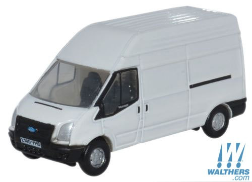Oxford N Scale Ford Transit Cargo Van w/High Roof - Assembled -- White