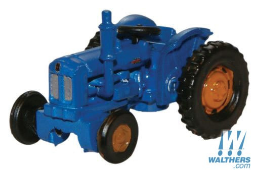 Oxford N Scale Fordson Farm Tractor - Assembled -- Blue, Red