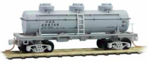 Micro Trains N Three Dome Tank Car, PRR #498748 - 0660090