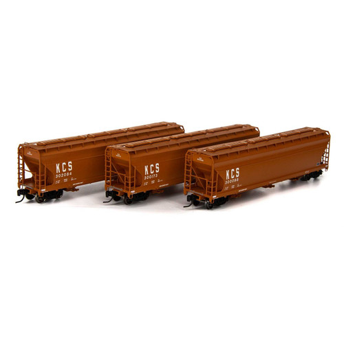 Athearn N Scale ACF4600 3 Bay Hoppers KCS - 3 Pack - ATH6949