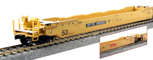 Kato HO Scale Gunderson MAXI-IV Double Stack Well Car Set - TTX New Logo