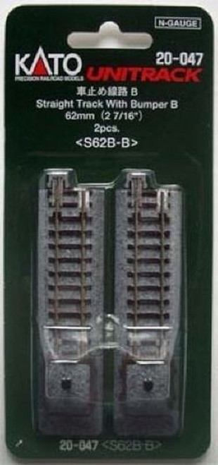 Kato N Scale Unitrack 62mm (2 7/16') Bumper Type