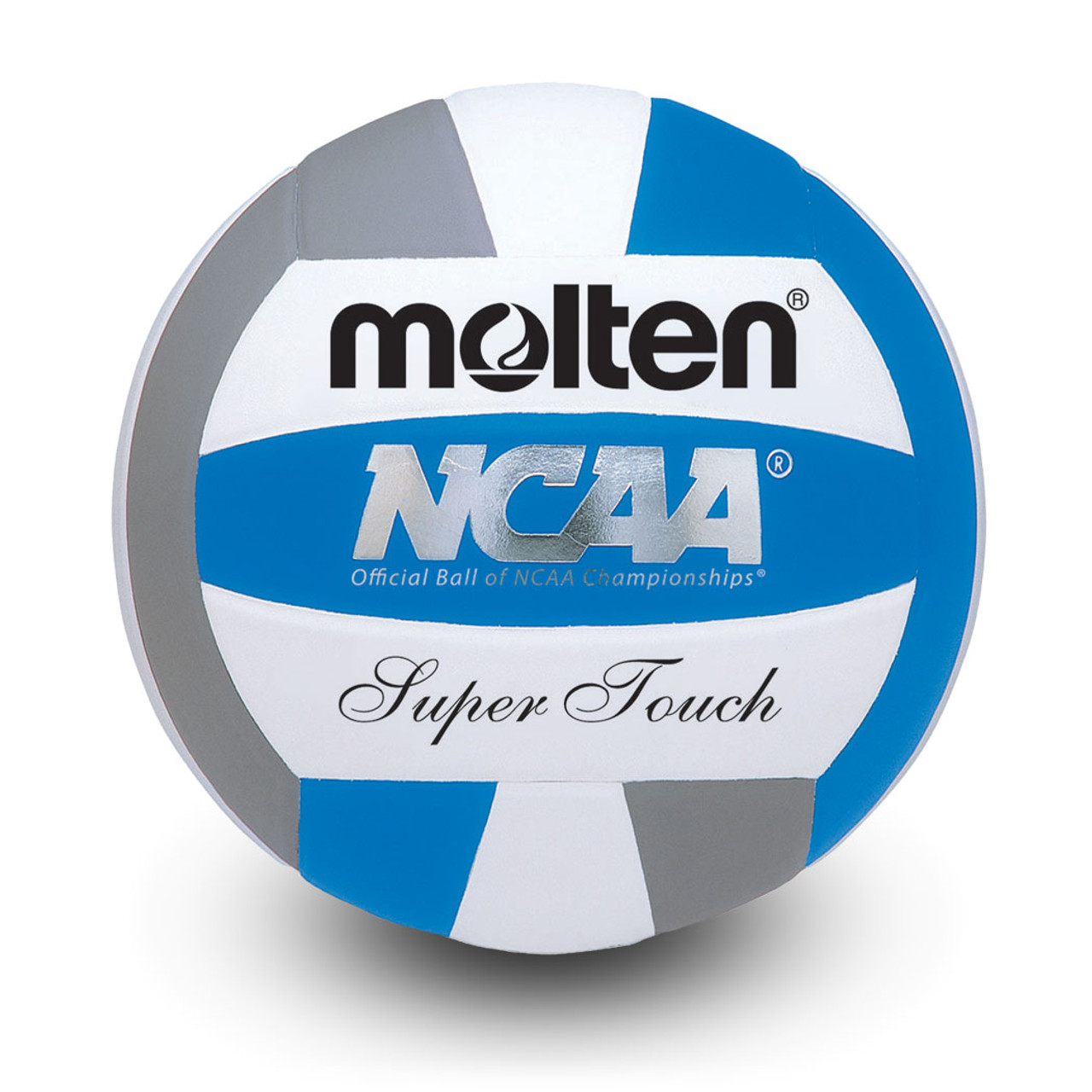 White Blue Molten Super Touch Volleyball Red Official Size Weight
