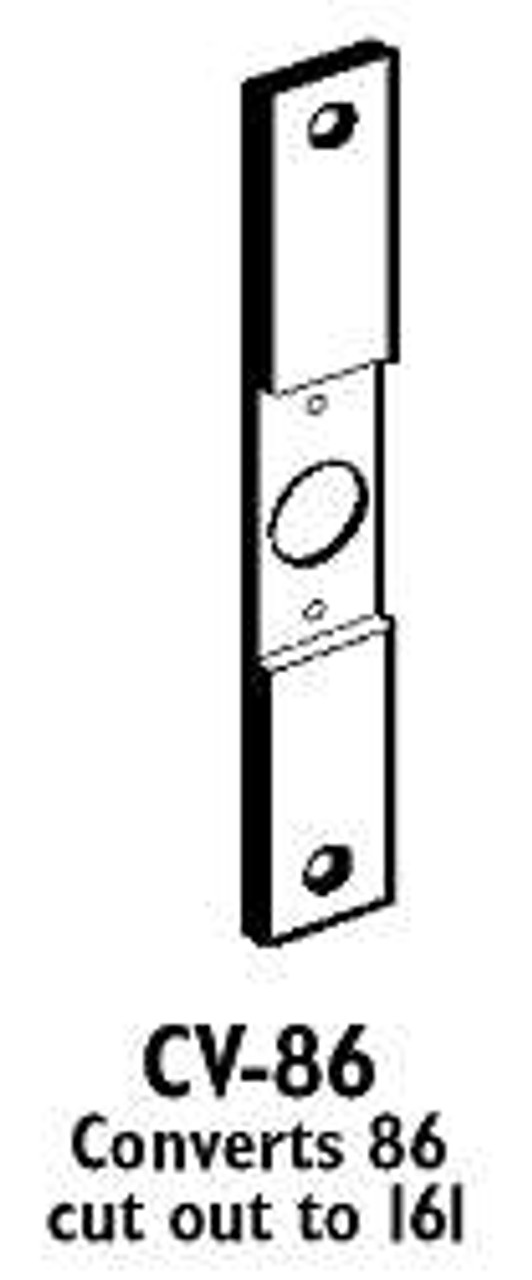 Mortise Lock 86 Cut Out to 161 CYL HIGH QUALITY DON-JO CV-86 Conversion Plate