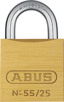 Abus 55/25KA 5253 Brass Body Padlock, Keyed Alike 5253
