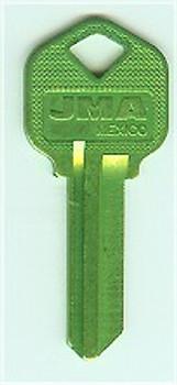Key blank, JMA KWI1 Aluminum Green for Kwikset KW1