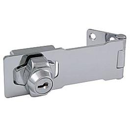 "Hasp Lock, 4-1/2"" Chrome"