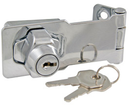 "Ultra Hardware Hasp Lock, 3"" Chrome"