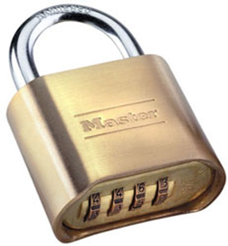 Master Lock 175D Padlock, Brass Body Combination (Display Pack)