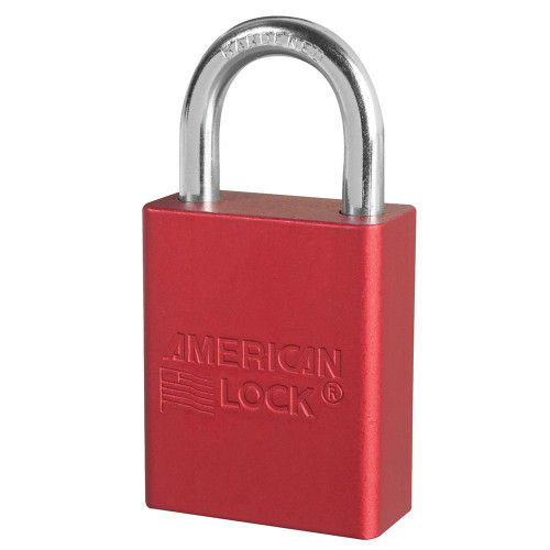 American Lock A1105 Red Padlock, Keyed Different