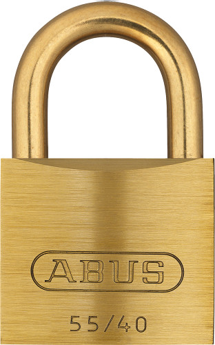 Abus 55MB/40 Brass Body with Brass Shackle Padlock, Keyed Different