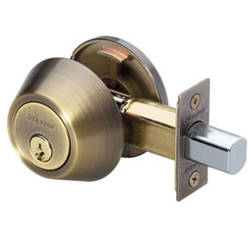 Master Lock DSO0605 Deadbolt, S/C Antique Brass SC1, Keyed Different