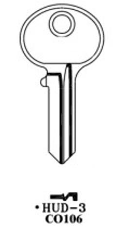 Key blank, JMA HUD3E for Hudson CO106,HL1
