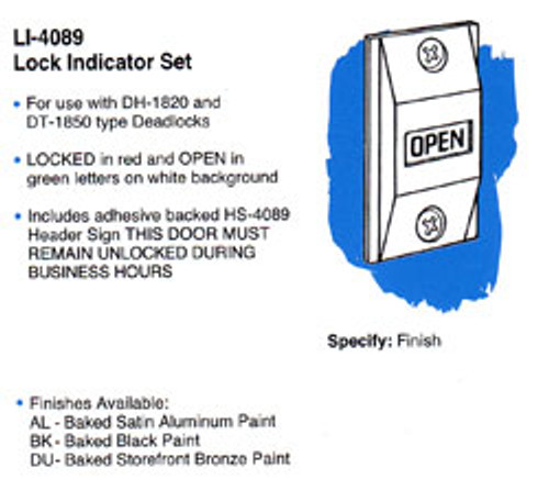 Indicator, For Deadbolt 4089 AL
