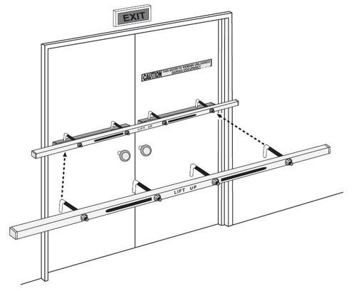 """Exit Security Bar SB-01-0072, 72"""" Double Door"""
