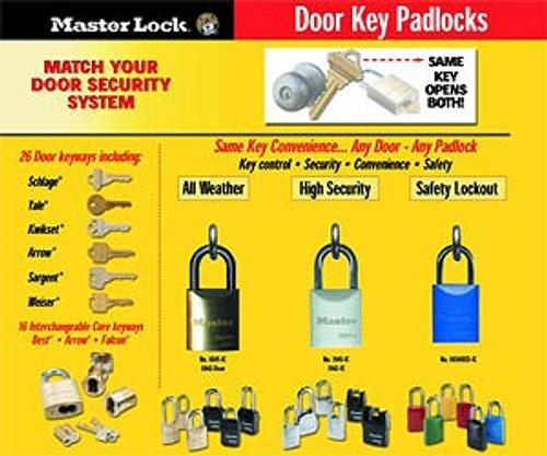 Master Lock 7042WO Pro Series Padlock. Without Cylinder