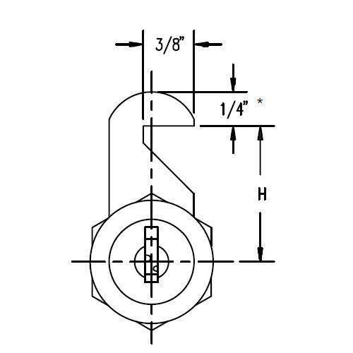 """ESP MCA-206-0701 Flat Cam 1"""" Hook"""