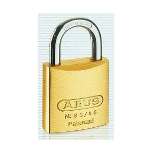 Abus 83/45-300 Brass Body Padlock, Schlage C Keyway, Zero Bitted