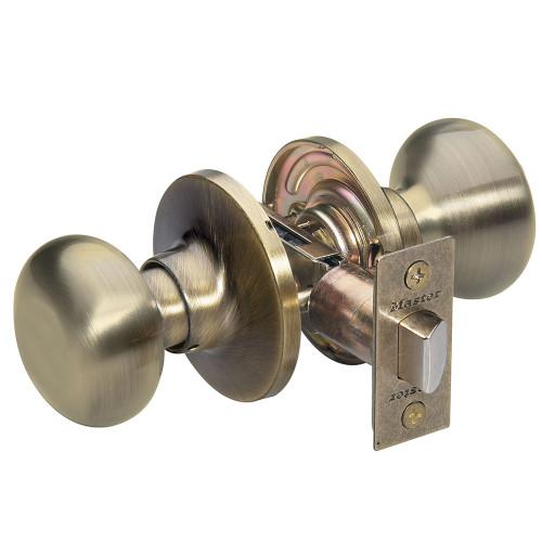 Master Lock BCO0405 Passage Lock, Antique Brass Biscuit