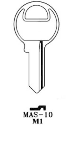 Key blank, JMA MAS10E-250 for Master M1 250pk