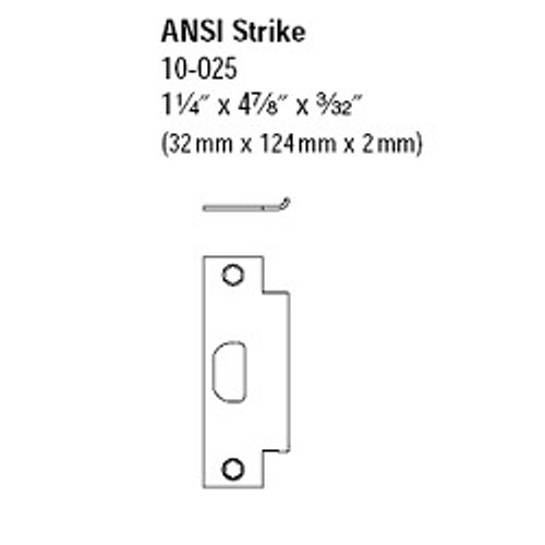"Ansi Strike, 10-025 1-3/16"" Lip 626"