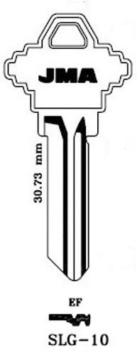Key blank, JMA SLG10 for SCH A1145EF
