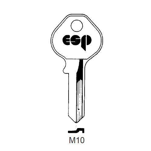 Key blank, ESP M10 for Master 15K