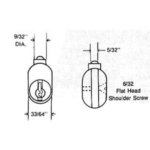 File Cabinet Lock, ESP PTR-1750S312 Keyed Random