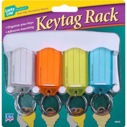Key Tag Rack, W/4 Asst Tags