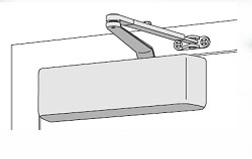 Door Closer, LCN 4040XP RW/PA AL