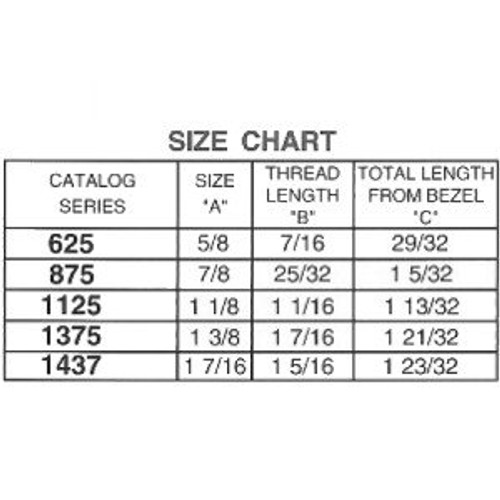 "ESP ULR-875STD Stainless Steel Cam Lock 7/8"", Keyed Different"