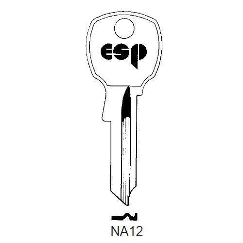 Key blank, ESP NA12 for National