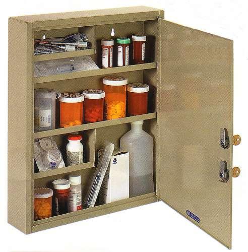 Medical Cabinet, Dual Key Large