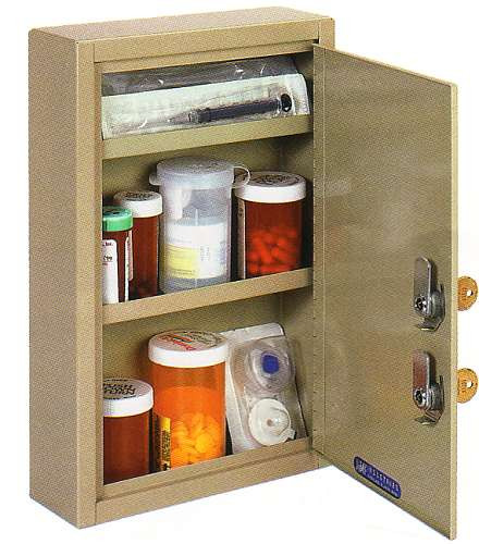 MMF 2019035D03 Medical Cabinet, Dual Key Small