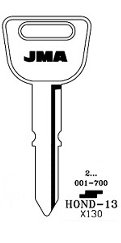 Key blank, JMA HOND13 for Honda X130